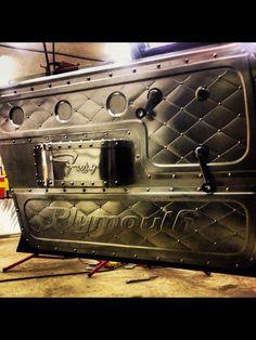 37 Ideas Custom Cars Interior Sheet Metal For 2019 Custom Car Interior, Truck Interior, Bomber Seats, Sheet Metal Art, Bling Car Accessories, Custom Metal Fabrication, Metal Shaping, Car Upholstery, Custom Cars