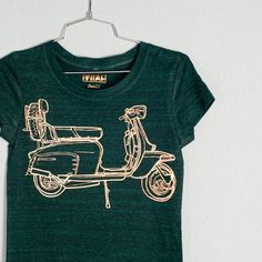 XL Scooter women's tri blend tshirt gold foil on by vital - StyleSays