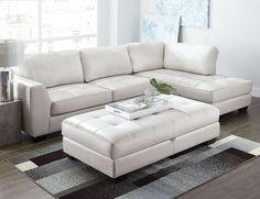 'Sandpiper III' Leather-Look 2-Piece Sectional