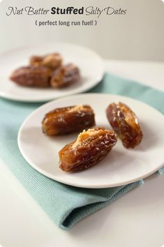 Make these nut butter stuffed salty dates for your next long run (or bike ride)! Great running fuel. Nutrition information and fueling suggestions included in the post.