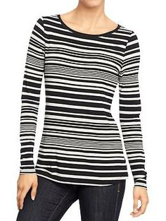 Women's Boat-Neck Jersey Tees   Old Navy