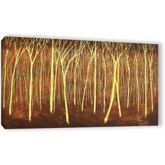 Herb Dickinson Faithful Light Gallery-Wrapped Canvas, Size: 24 x 48, Yellow