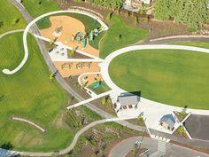 Surrey Downs Park - Berger PartnershipBerger Partnership Kids Play Equipment, Master Plan, Surrey, Baseball Field, Kids Playing, Golf Courses, How To Plan, Park, Boys Playing