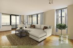 Midtown East, NYC 2BR Virtually Staged. Click to see unstaged.