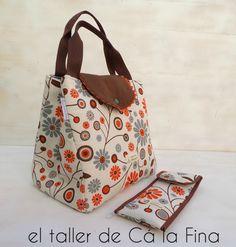 Bolso-nevera Pic nic y estuche para cubiertos #bolsospersonalizados #picnic #neveraportatil
