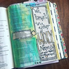 Our soul waits for the Lord; He is our help and our shield. For our heart shall rejoice in Him Because we have trusted His holy name. Let Your mercy O Lord be upon us Just as we hope in You. Psalms 33:20-22  #art #bible #biblestudy #biblejournaling #biblejournalingcommunity #crafts #christian #christianity #faith #joy #jesus #journalingbible #psalms #trust #craftedword by stickeryboo
