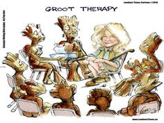 #Groot #Therapy by @LTCartoons #humor #comics