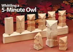 Carving Owl - Wood Carving Patterns and Techniques | WoodArchivist.com