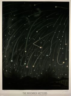 The Leonid meteor shower is tonight! Before you watch, download our Point iBook with this amazing 1800s E.L. Trouvelot print and NASA photo of the Leonids. Download the Point iBook http://on.nypl.org/WbXmT7