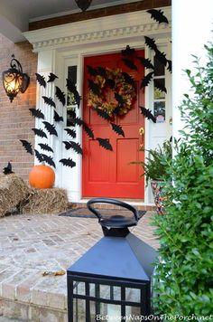 Front Porch Halloween Decorating Ideas Halloween front doors