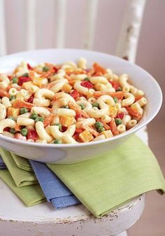 Pasta Side Salad Made Over – Your backyard barbecue buds will never know that this pasta salad is better-for-you. Even though it's a Healthy Living recipe, it still has all of the creamy, delicious flavor that you enjoy in traditional versions!