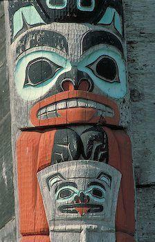 Totem Pole. Haines, Alaska.