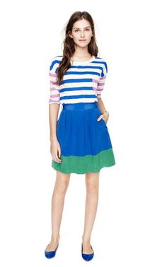 stripes and color blocking #madewell spring 2012
