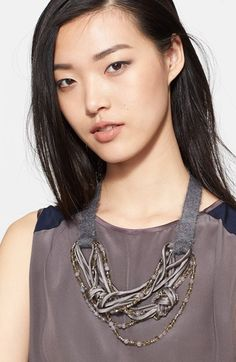 Fabiana Filippi Knotted Multistrand Necklace available at #Nordstrom