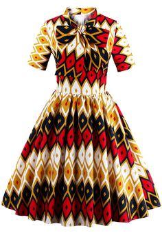 ZAFUL Woman Retro Dresses Rockabilly Audrey Hepburn Floral Print Bow Tie High Waisted Ball Grown Party Female - ZAFUL Woman Retro Dresses Rockabilly Audrey Hepburn Floral Print Bow Tie High Waisted Ball Grown Party Female-SheSimplyShops Source by - Elegant Dresses, Vintage Dresses, Beautiful Dresses, Nice Dresses, African Print Clothing, 50s Clothing, African Clothes, African Prints, Belted Shirt Dress