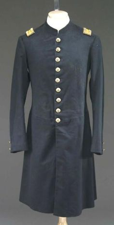 Uniform; Indian War Period, Frock Coat, Cavalry Officer, Eagle Buttons.
