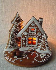 The most beautiful 26 Christmas cookies - Ünal Güler-food,recipes,dessert,deli. Christmas Gingerbread House, Christmas Sweets, Christmas Cooking, Christmas Goodies, Christmas Time, Christmas Crafts, Christmas Decorations, Gingerbread Houses, Gingerbread Dough