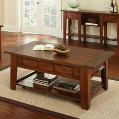 Shaker/Mission Coffee Tables On Hayneedle  Rustic Amish Style Coffee Tables