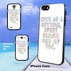 One Direction Marcel Quote iPhone 4/4s/5 Samsung by BluezSkiez