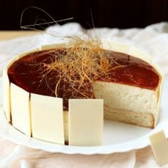 Rice and caramel mousse cake