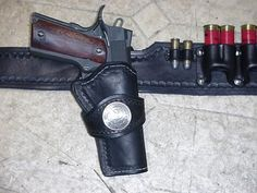 LoneRider Leather, a Short History 1911 Holster, Holsters, Bug Out Gear, Leather Holster, Leather Projects, Pistols, Custom Leather, Leather Working, Firearms