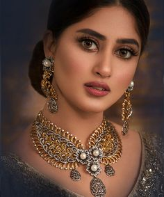 Best Bridal Jewellery in Lahore For Women Fashion. Statement collection of wedding Jewellery, bridal jewellery in Pakistan by Haroon Sharif Jewelry Diamond Jewelry, Gold Jewelry, Luxury Jewelry, Gold Necklace, Sajal Ali, Sea Glass Jewelry, Stylish Girl, Pandora Jewelry, Indian Jewelry