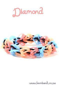 Diamond loom band bracelet