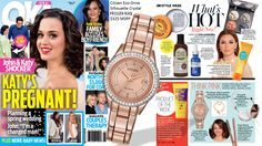 OK Magazine agrees: this rose gold tone silhouette crystal watch goes with everything!  Citizen Eco-Drive Silhouette Crystal featured (FE1123-51Q) $325