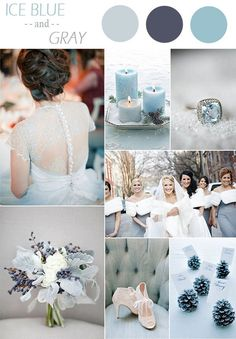GOH Weddings: ice blue and grey colour scheme
