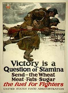 Harvey Dunn, Victory is a Question of Stamina - Send the Wheat, Meat, Fats, Sugar, 1917