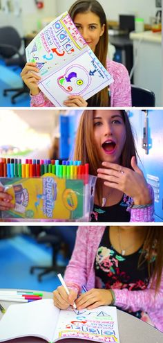Take Colorful Notes + Kill Boredom | Click Pic for 20 DIY Life Hacks for Girls for School | Life Hacks for College Students