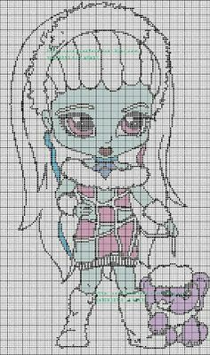 grids cross stitch and cie: Grid cross stitch Monster High