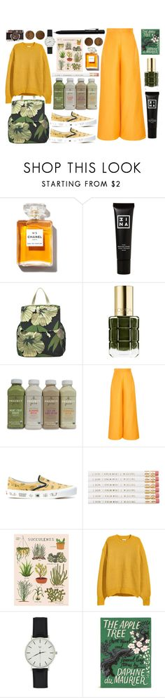 """""""Golden Garden"""" by unicornonthecobb ❤ liked on Polyvore featuring 3ina, P.A.R.O.S.H., L'Oréal Paris, Paper London, Vans, H&M, Olympia Le-Tan, Faber-Castell and unicornonthecobb"""