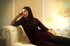 Amarylis en plein shooting  pour l'agence Brigitte Models, à l'hôtel Vice Versa by Chantal Thomass