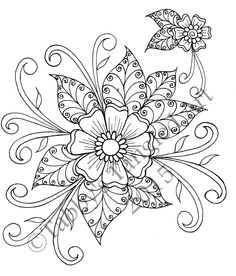 Henna Kunst Malvorlagen - Amazing Coloring Pages- Beste druckbare: Henna Kunst Malvorlagen Hand Embroidery Tutorial, Embroidery Flowers Pattern, Paper Embroidery, Embroidery Transfers, Hand Embroidery Designs, Flower Patterns, Flower Designs, Embroidery Sampler, Modern Embroidery