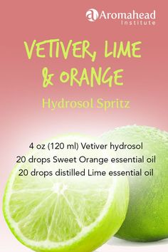 Hydrosols are pure healing waters produced during distillation. There are many different ways to use hydrosols, like on skin, on animals, and in the car. Vetiver Essential Oil, Lime Essential Oil, Sweet Orange Essential Oil, Essential Oil Diffuser Blends, Natural Essential Oils, Young Living Essential Oils, Esential Oils, Living Oils, Apothecaries