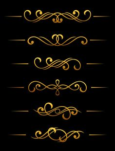 Fuente Art Deco, Retro Design, Logo Design, Motif Art Deco, Pinstriping Designs, Rangoli Border Designs, Decorative Lines, Banner Printing, Filigree Design