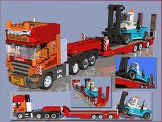 Lego Truck, Toy Trucks, Lego Construction, Construction Birthday, Lego Unimog, Lego Furniture, Lego Modular, Lego Room, Lego Stuff