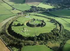 The massive Iron Age hill fort of Old Sarum