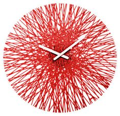 Silk Wall clock Transparent red by Koziol