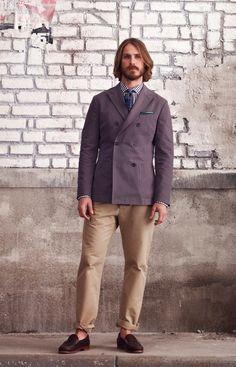autumn 2012 collection Club Monaco men style fashion jacket beige