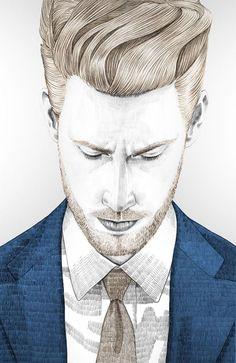 fashion illustration - men