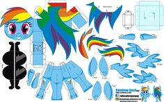 Build a Dash My Little Pony Cumpleaños, Fiesta Little Pony, Cumple My Little Pony, My Little Pony Birthday, Little Poney, My Little Pony Friendship, Rainbow Dash, Imagenes My Little Pony, Diy And Crafts