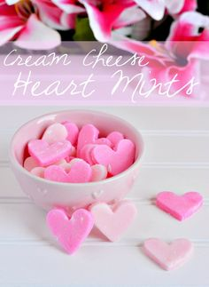 Cream Cheese Heart Mints Recipe- these are great for Valentine's Day and there's no baking required!