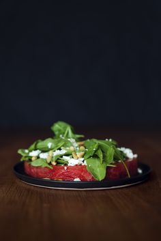 Watermelon salad with feta and pine nuts // Vegetarian + Gluten free
