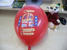 5 colour Diamond Jubilee printed balloons
