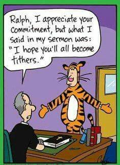 Inherit the Mirth: tithes to tigers!