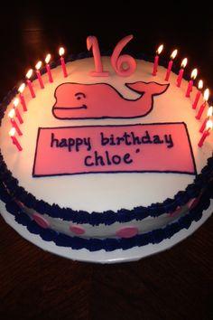 Vineyard Vines birthday cake (happy 16th Chloe!)