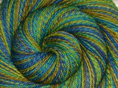 Handspun Yarn Worsted weight, Self-striping - MOTHER EARTH - Handdyed Merino/Yak/Bombyx Silk, 256 yards, gift for knitter, weft yarn by BlackSheepGoods on Etsy