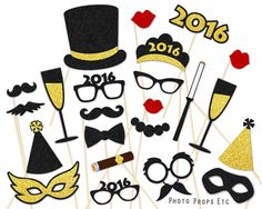 New Year Photo Props - New Year Photo Booth | PhotoPropsEtc - on ArtFire